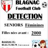 Détections Seniors Féminines