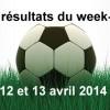 Les résultats du week-end :12 & 13 avril