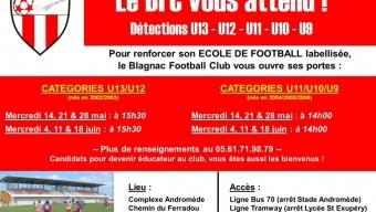 Rejoignez notre école de football !
