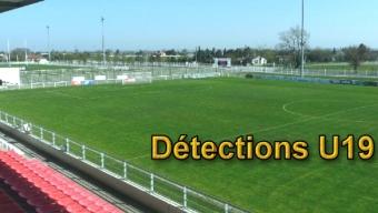 Détections U19 : les 2 et 4 juin à 19h00