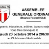 Assemblée générale : jeudi 23 octobre 2014 à 20h30