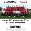 CFA 2 : BFC – Agde, samedi 22 novembre à 18h00