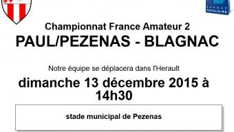 PAULHAN/PEZENAS – BLAGNAC FC (CFA2)