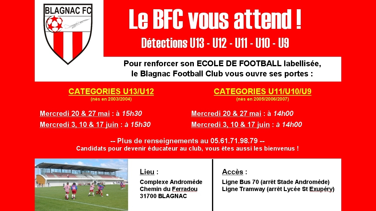 ecole de foot portes ouvertes blagnac football club. Black Bedroom Furniture Sets. Home Design Ideas