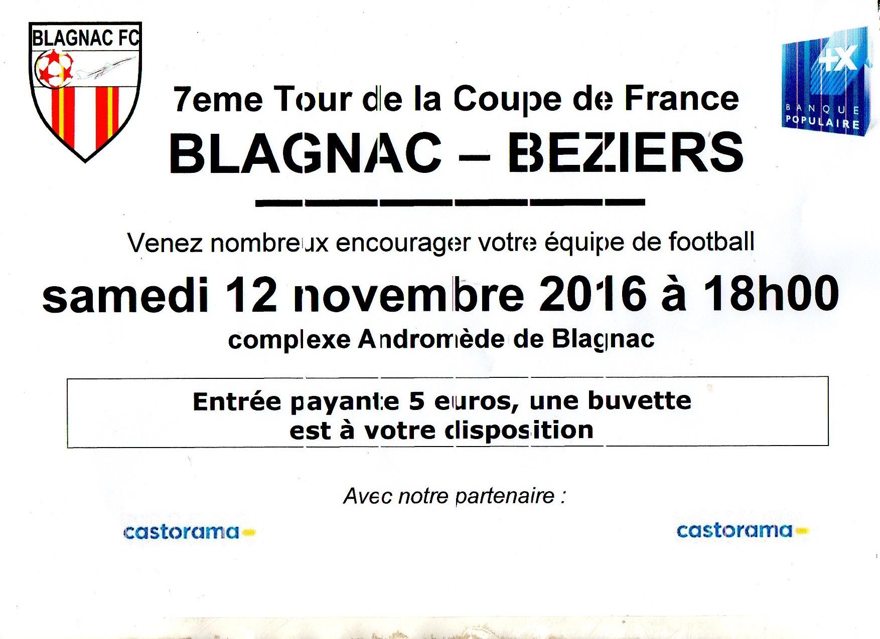 7eme tour coupe de france blagnac football club - Resultat coupe de france 7eme tour ...