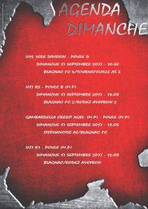 Affiche AGENDA DIMANCHE 17 septembre