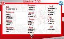 Calendrier N3 2021/2022 BFC