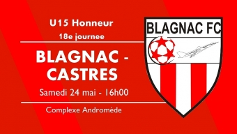 U15 A : samedi 24 mai, finale du championnat !
